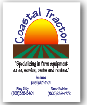 Equipment label for Coastal Tractor
