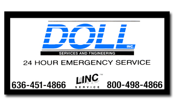 Equipment label for Doll Services and Engineering